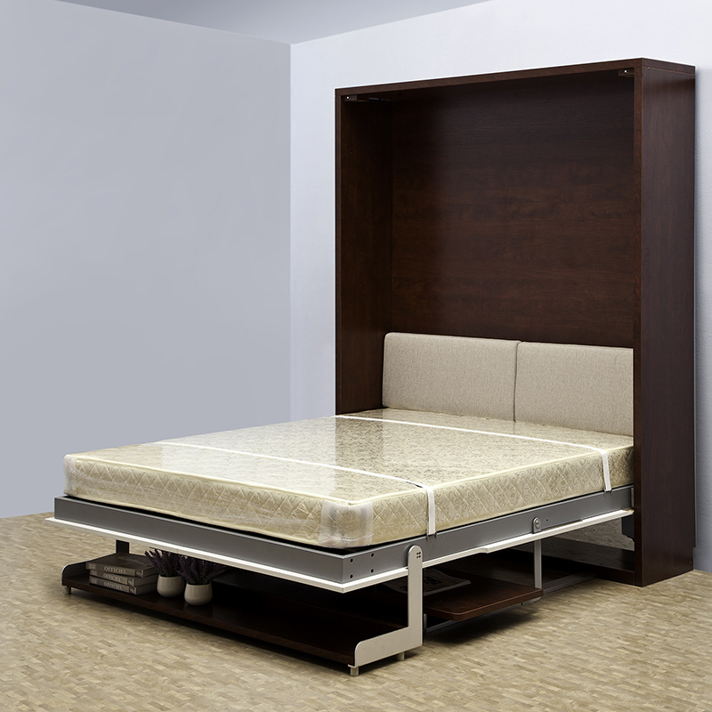Folding bed attached to wall interior closet storage steel color design bed carpet marvellous - Beds with desks attached ...