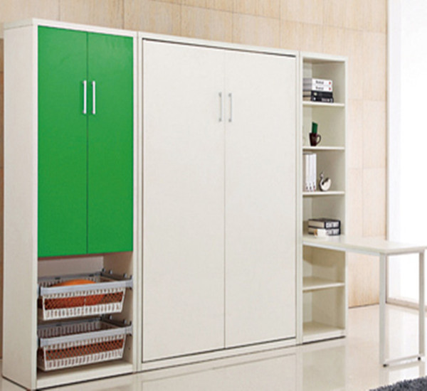 White elegant Murphy bed