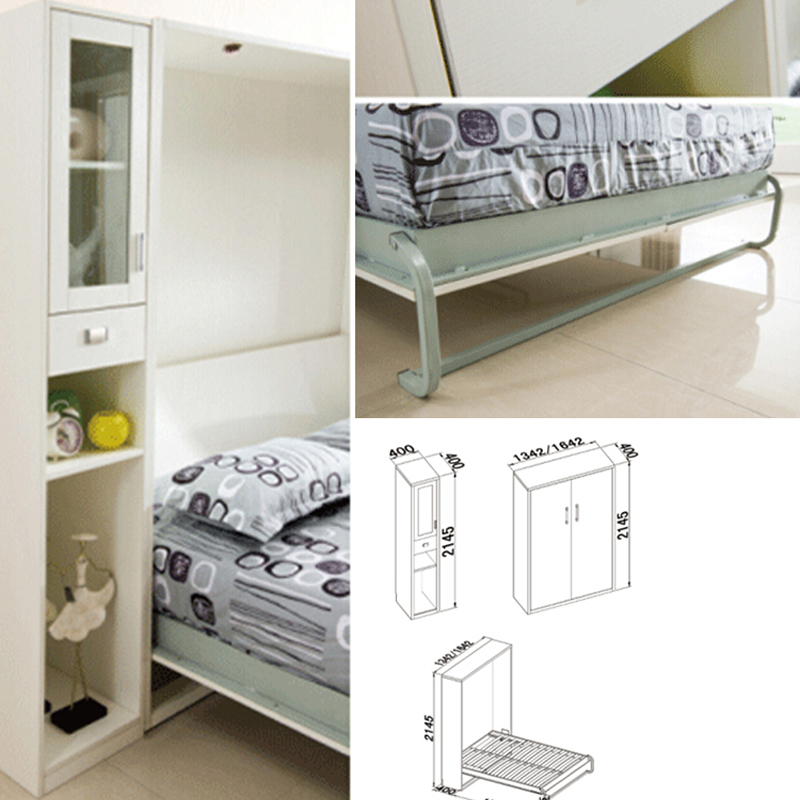 Vertical wall bed frame