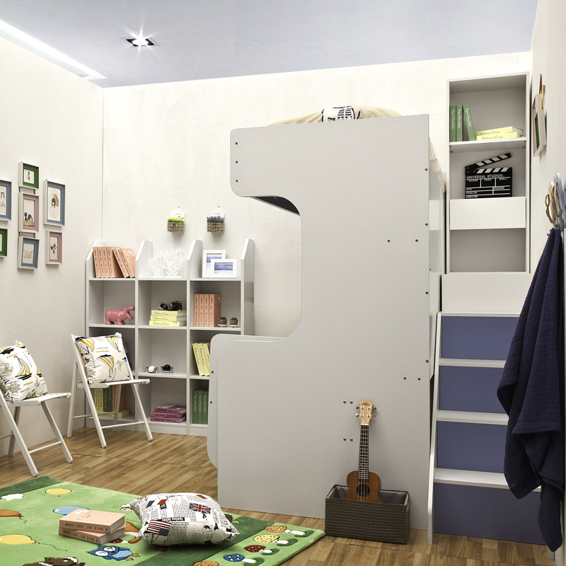 Multifunction bunk wall bed kid