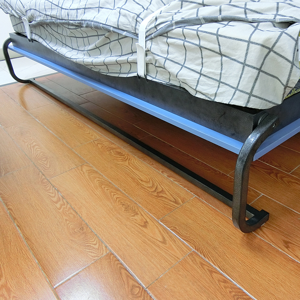Wall bed steel leg mechanism