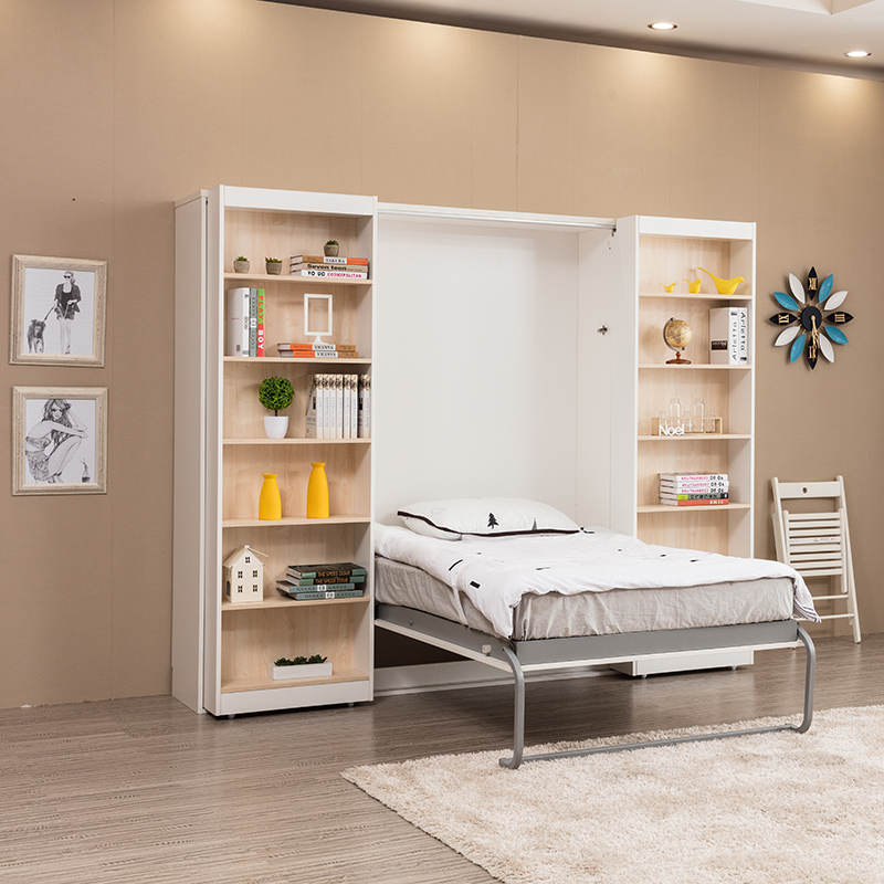 Wholesale With Bookcase Hidden Murphy Bed Foldable Wall Bed,With ...