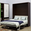 Space saving furniture folding hidden wall bed with desk