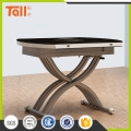 Electric lifting glass table automatic height adjustable table