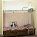 Murphy inline bunk bed for rental housing