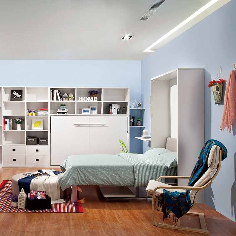 Wholesale Vertical White Hidden Murphy Bed With Desk For Suite ...
