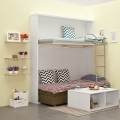 Modern cabinet durable bunk bed for guest suite