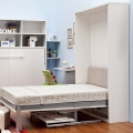 Vertical high quality durable Murphy bed with desk for crafts