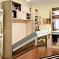 Hot sale custom made modern hidden wall bed with desk