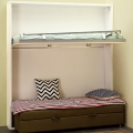 Sofa bunk bed with useful spring in safe