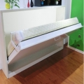 Horizontal convenient foldable wall Murphy bed with U-Shape leg