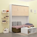 Small apartment bunk bed with sofa