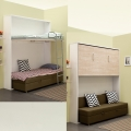 Small apartment bunk bed with sofa loft bunk bed