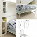 Custom creative space saver vertical style wall bed