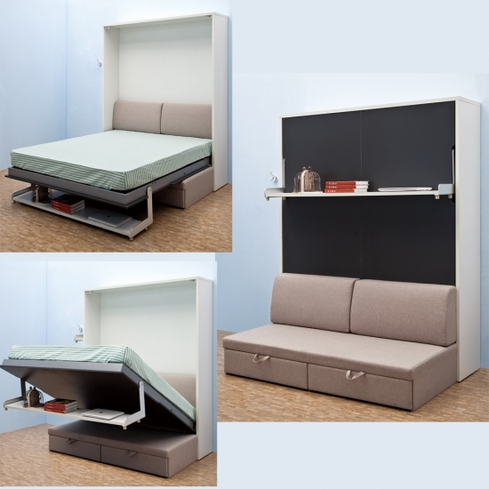 Modern Bedroom Furniture Sofa Wall Bed Hotel Folding Bed ...