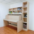 wholesale modern kids furniture wooden children bed with study table