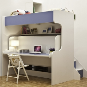 Folding cute kids bunk bed
