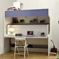 Innovative pull down wall bed folding wooden bunk bed