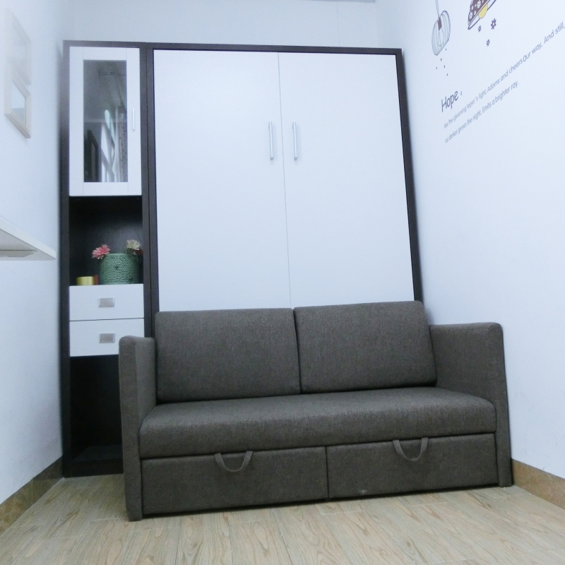 Bedroom Furniture Folding Wall Bed With Sofa ...