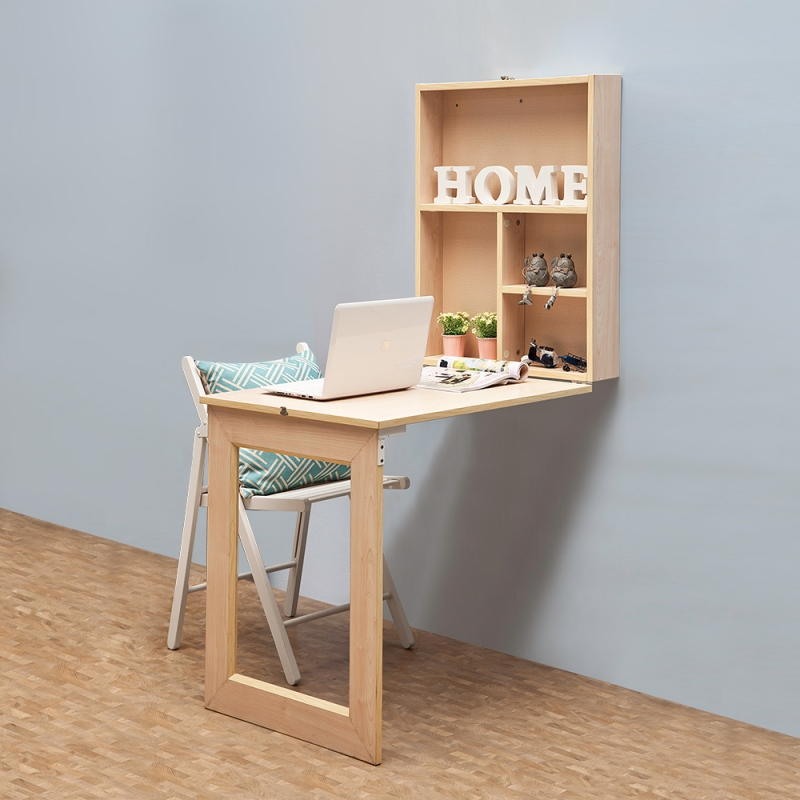 Folding Lovely Cabinet Space Saving Fold Down Desk ...