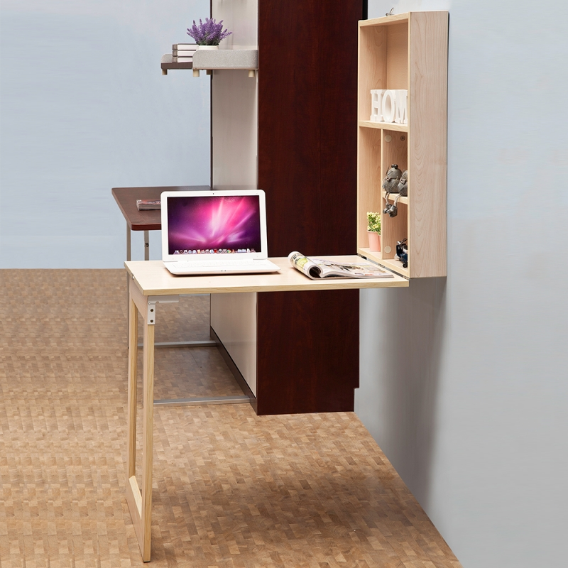 Home Furniture Lovely Cabinet With Fold Down Desk-tallwallbed.com