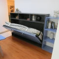 Single size horizontal wall bed storage folding bed