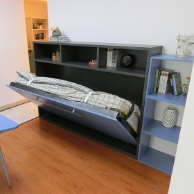 Single size horizontal wall bed