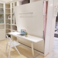 Purchase white cheap wall bed with desk folding murphy bed