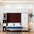Customized Plywood Vertical Murphy Bed Folding Wall Bed With Sofa Mounted Wall Bed
