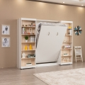 With Bookcase Hidden Murphy Bed Foldable Wall Bed
