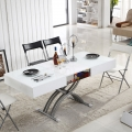 Adjustable height lifting table folding dining table