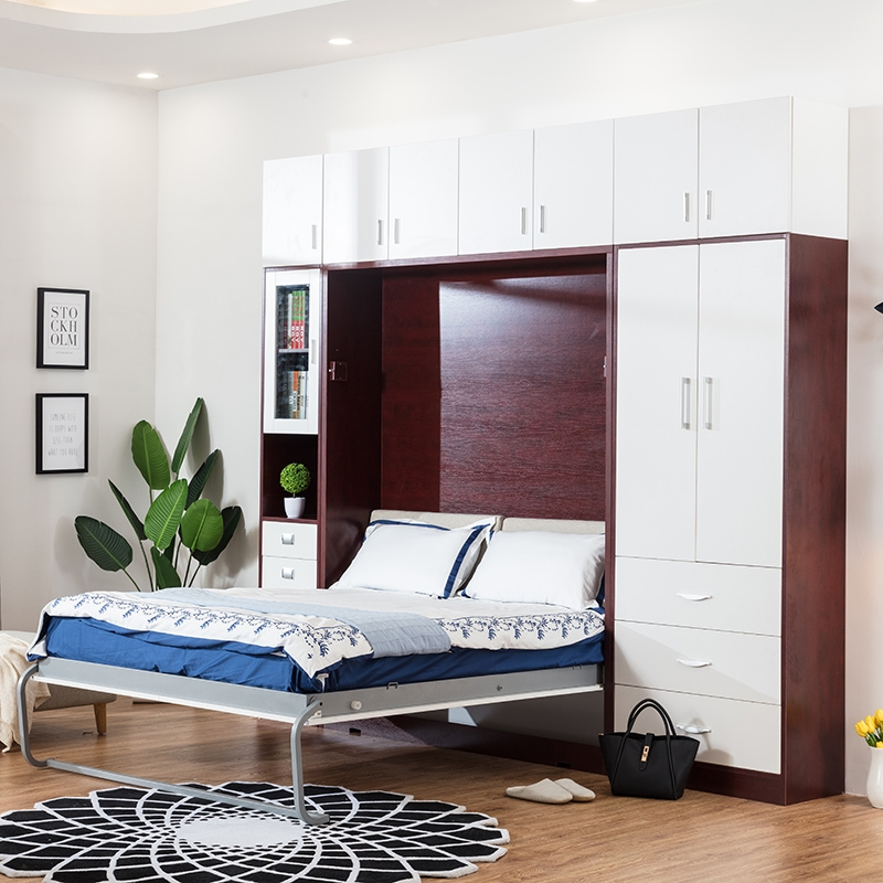 wholesale customized plywood vertical murphy bed folding wall bed