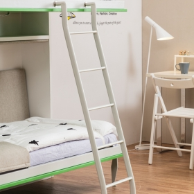 Color customized Hot sale smart home furniture folding kids' mounted bunk wall bed with protective armrest