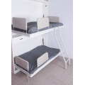 Custom design white color kid bed double folding bed bunk bed with three drawers