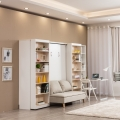 2019 modern 30mm plywood folding beds with bookcase
