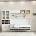 Horizontal murphy bed single size wall bed mechanism