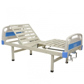 Hospital adjustable medical home care two manual cranks patient nursing beds with mute casters individual brake