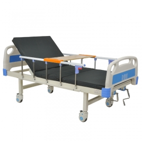Lit hopital adjustable medical home care two manual cranks patient nursing beds with mute casters individual brake