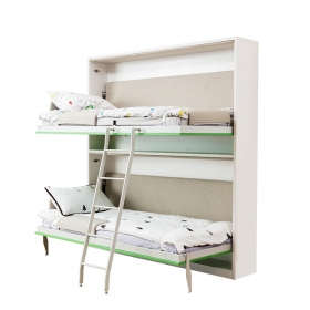 Hot sale Wall mounted good quality wooden bunk bed for children folding murphy beds