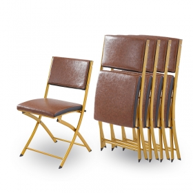 high quality living room furniture PU leather folding chair for sale