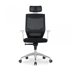 Home Office Executive Ergonomic Modern Adjustable Height Mesh Chair with Headrest
