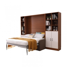 New Arrival Horizontal Wall With Murphy Bed And Desk Single Sofa Wall