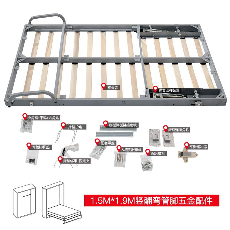 Wall bed mechanism